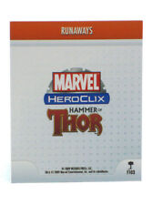 Marvel Heroclix Runaways Feat Card F103 Hammer Of Thor Limited Edition Op Kit Le