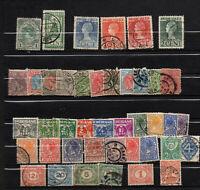 42 anciens timbres Pays Bas oblitérés