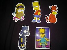 LAPTOP STICKERS SIMPSONS STYLE CAR SKATEBOARD INSTRUMENT CASE DECALS LOT OF 5