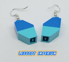 LEGO Custom Dangle Earrings - Blue 2-tone Slope Bricks - FREE POST