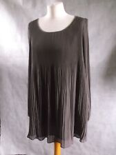 Unusual PHASE EIGHT taupe multi pleat dress size 12