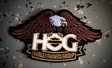 """HARLEY OWNERS GROUP """"HOG"""" LARGE - BROWN EAGLE PATCH """"SHIPS INTERNATIONAL"""""""