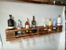 6 bottle wine rack shelf unique upcycled Industrial handmade rustic wooden