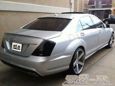 S63 AMG Trunk Spoiler Lip w/ Roof Wing Lip W221 S350 S500 S550 Painted Silver