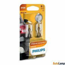 2x W16W Vision lamp Car HALOGEN Rear indicator 12V 16W W2,1x9,5d PHILIPS 12067B2