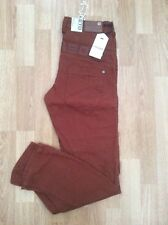 BOYS ETO 9901 TWISTED FASHION CHINOS RUSTY TAN SIZE 27 = AGE 13 YEARS