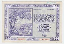 YUGOSLAVIA 100 DINARA 1950, National loan, Obligation, Very rarre bond !