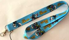 MOBILE PHONE/IDENTITY CARD LANYARD NECK STRAP FOOTBALLING SMURFS BLUE