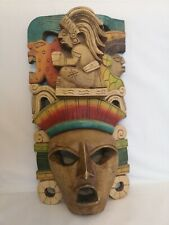 Original Mayan Mask Brought At chichen itza wooden carved mask Mexico