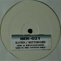 "DJ FIXX ""INFATUATION / BIG SYNTH RIFF"" 2005 VINYL 12"" WHITE LABEL BREAKBEAT RARE"