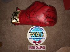 Boxing HOF Signed Glove | Joe Frazier Jake LaMotta Carmen Basilio + MORE