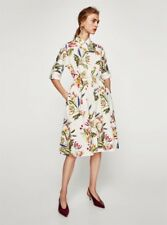 64fb6ca316 ZARA Floral Print Tunic Shirt Dress BNWTGS L Large 14