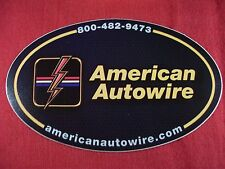 American Autowire Sticker Decal Hot Rods Classic Cars