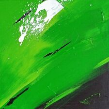 "SUPERB ORIGINAL ROB VAN HEERTUM ""Simply Green"" ABSTRACT PAINTING"