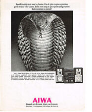 PUBLICITE ADVERTISING  1989   AIWA   chaine hi-fi VX 7700