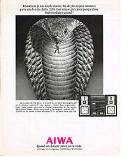 PUBLICITE ADVERTISING  1989   AIWA   chaine hi-fi VX 7700