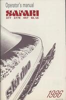 1986 SKI-DOO SAFARI SNOWMOBILE OPERATORS MANUAL