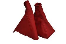 Se adapta a Astra G Mk4 Rojo Cuero Caja De Cambios Freno De Mano Polaina