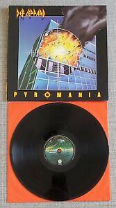 DEF LEPPARD - PYROMANIA-DUTCH ISSUE LP ON VERTIGO/PHONOGRAM RECORDS - 1983 - VGC