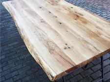 Tischplatte Massivholzplatte Küchentisch Esstisch Eiche massiv mit Baumkante