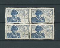 FRANCE - 1945 YT 743 bloc de 4 - TIMBRES NEUFS** LUXE