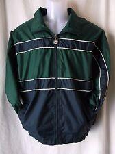 Vintage lite weight  jacket Hunter green navy 100% NYLON size M ATHLETIC WORKS