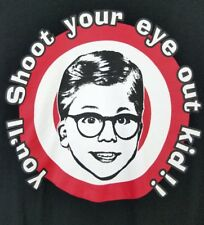 Christmas Story You'll Shoot Your Eye Out Kid Men's Small T-shirt Black Tee