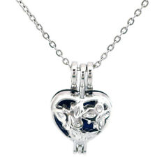 Necklace Essential oils Diffuser K617 Butterfly Pearl Cage Locket