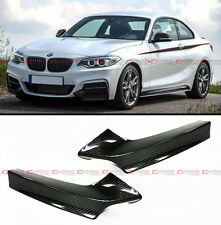 PERFORMANCE STYLE CARBON FIBER BUMPER SPLITTER FOR 2014-18 BMW F22 M SPORT PKG