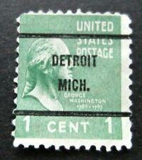 US-1938-1c Washington-Detroit Precancel-Used