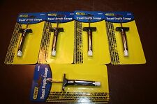 "Lot of 5 Tire Tread Depth Gauges ""Brand New in Original Package"" FREE SHIPPING"