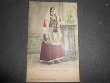 1905 COSTUME DI MONSERRATO CAGLIARI SARDEGNA VIAGGIATA COLORATA A MANO SPLENDIDA