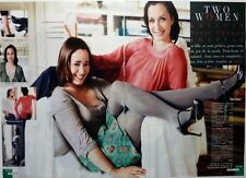 KRISTIN SCOTT-THOMAS and daughter HANNAH: 6 pages 2008  FRENCH CLIPPING