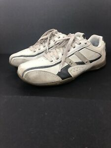 Skechers Relaxed Step Ivory Tan Leather Casual Lace Up Shoes Mens 9.5 62033 FLAW