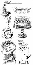 Time To Celebrate #2, Cling Style Unmounted Stamp Set GRAPHIC 45 - NEW, IC0318