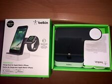 Used Belkin All in One PowerHouse Charging Dock for Apple Watch + iPhone White