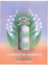 ▬► PUBLICITE ADVERTISING AD Produits de beauté CARON Muguet du bonheur 1954