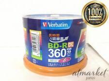 50 Verbatim Blank Blu-ray Discs 50GB BD-R DL 4x 6x bluray JAPAN F/S