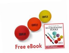 Resultsport ® Trigger Point Massaggio Palla Set Confezione da 3 (Morbida/Media/hard)