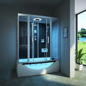 Dampfdusche Duschtempel Komplettdusche Duschkabine Whirlpool Badewanne 170x90