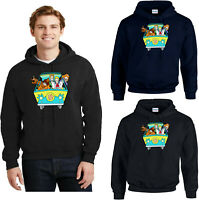 Scooby Doo Hoodie, Funny Mystery Machine Gang Members Cartoon Animated Scary Top