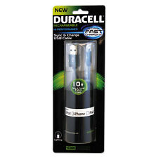 Duracell Sync And Charge Cable Micro USB iPhone 10 ft PRO905