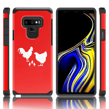 For Samsung Galaxy Note 8 9 Shockproof Hard Case Cover Chicken Family