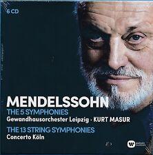 Concerto Cologne 13 String Symphonies Mendelssohn 5 Symphonies CD NEW Kurt Masur