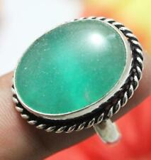 "Green Onyx Gemstone Ring 925 Sterling Silver Overlay Us Size 10"" U238-G3"