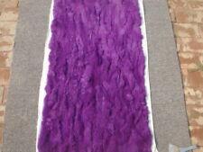 Luxury 100% Rex Rabbit Fur Throw Warm Soft Bedspread Blanket 22''X42'&# 039; Purple
