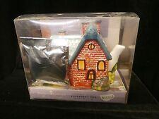Thomas Kinkade Figural Ceramic Everett's Cottage Teapot with Blueberry Tea Bags