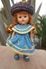 Vogue Ginny Strung Doll 1950's in Complete Outfit w. Center Snap Shoes