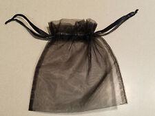 White House Black Market Black Sheer Drawstring Gift Bag (NEW)