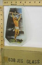 FREE US SHIP OK Touch Lamp Replacement Glass Panel Jesus On Cross 638-JES